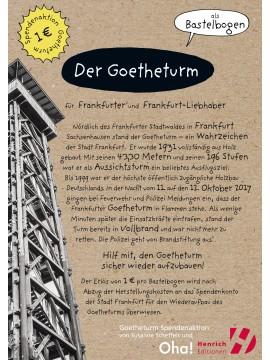 Der Goetheturm - Bastelbogen